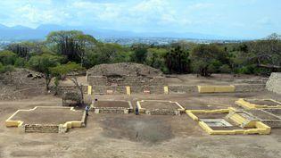 Des archéologues ont découvert pour la première fois au Mexique un temple dédié à Xipe Totec, a annoncé le 3 janvier 2018 l'Institut national d'Anthropologie et d'Histoire (INAH). (MELITON TAPIA / INAH / AFP)