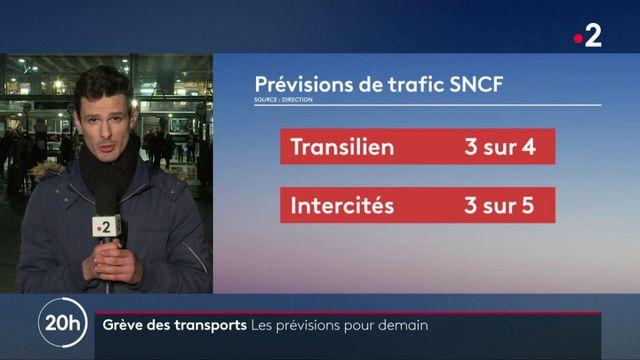 Grève : les prévisions du trafic jeudi 16 janvier