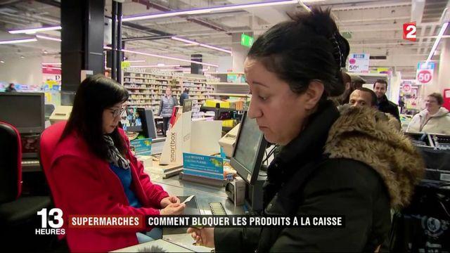Supermarchés : comment bloquer les produits à la caisse ?