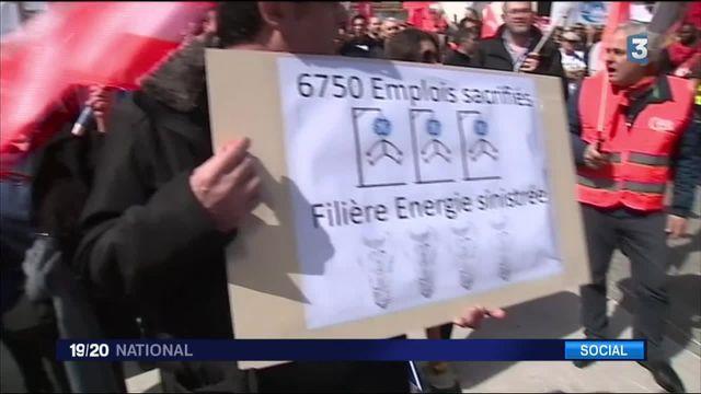 General Electric : mobilisation européenne des salariés à Paris