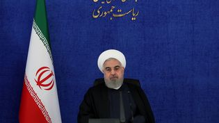 Le président iranienHassan Rouhani, le 28 novembre 2020 à Téhéran (Iran). (IRANIAN PRESIDENCY / ANADOLU AGENCY / AFP)