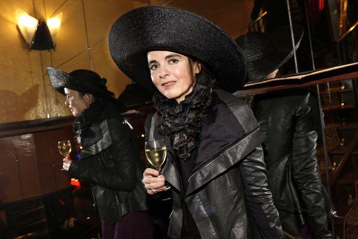 La romancière Amélie Nothomb à Paris le 16 avril 2019 (ERIC FOUGERE - CORBIS / CORBIS ENTERTAINMENT)
