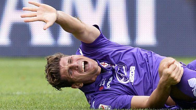 Le joueur allemand de la Fiorentina Mario Gomez