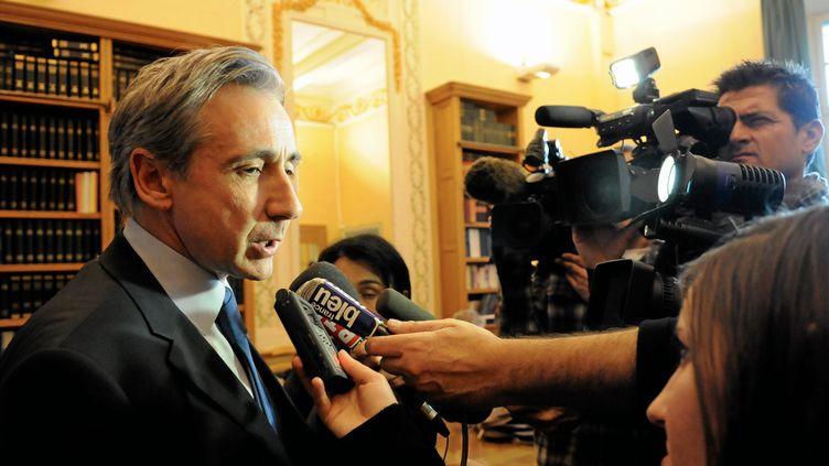 Le procureur de la République de Béziers, Patrick Mahé, lors d'une conférence de presse le 15 février 2012. (PIERRE SALIBA / LE MIDI LIBRE / MAXPPP)