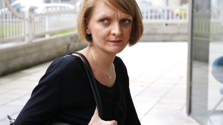 Rachel Lambert, la femme de Vincent Lambert, le 9 juin 2016 à Reims (Marne). (FRANCOIS NASCIMBENI / AFP)