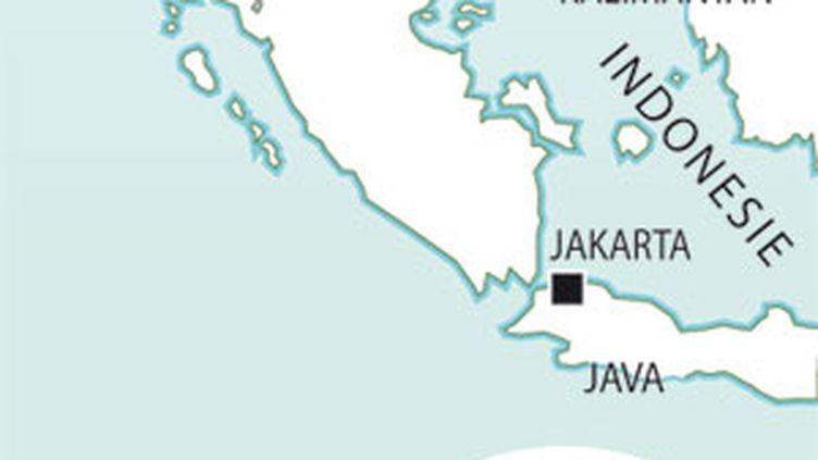Carte de l'Indonésie. (AFP)