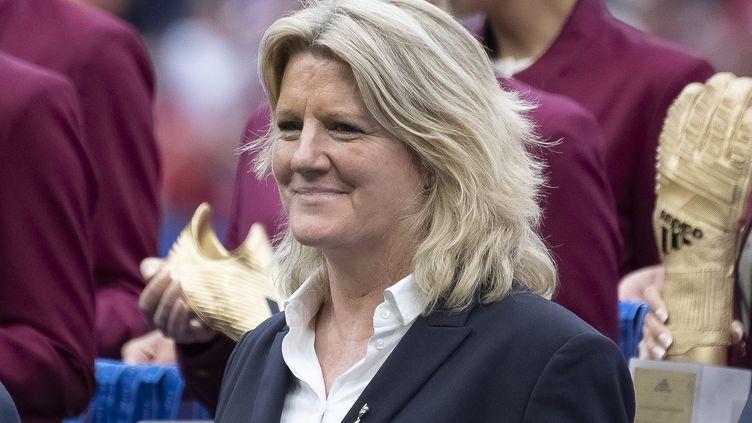 Brigitte Henriques,vice-présidente de la Fédération française de foot, le 7 juillet 2019. (ERIC BALEDENT / MAXPPP)