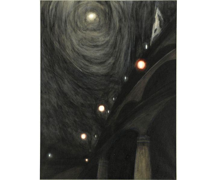 "Léon Spilliaert, ""Clair de lune et lumières"",vers 1909,Paris, musée d'Orsay Don de Madeleine Spilliaert, 1981 (© RMN-Grand Palais (Musée d'Orsay) / Hervé Lewandowski)"
