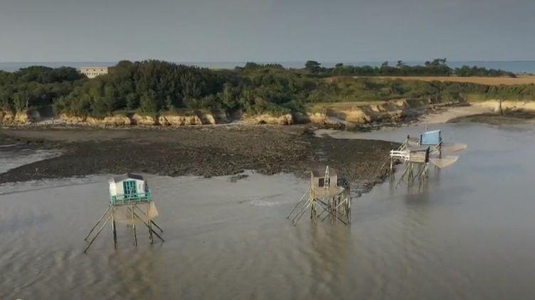 Les carrelets sont de petites cabanes en bois perchées sur l'eau qui surplombent le littoral charentais. Développés dans l'après-guerre, ils se transmettent de génération en génération. (FRANCE 2)