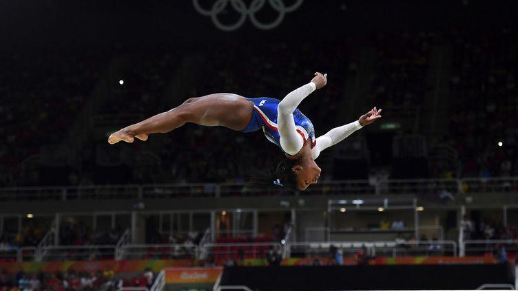 La gymnaste Simone Biles a dominé les Jeux Olympiques de Rio. Bilan : cinq médailles, dont quatre titres.   (BEN STANSALL / AFP)