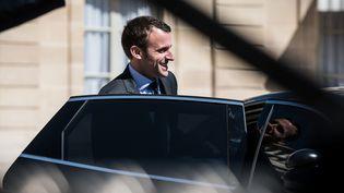 Emmanuel Macron quitte l'Elysée, le 4 mai 2016. (MAXPPP)