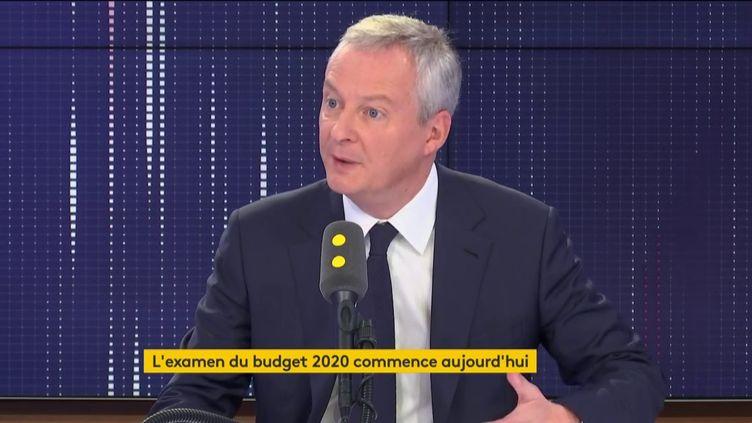 Bruno Le Maire, sur franceinfo lundi 14 octobre. (FRANCEINFO / RADIOFRANCE)