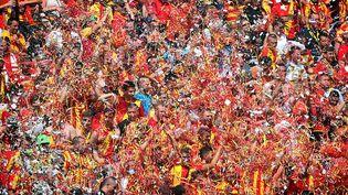 Les supporters du RC Lens lors du match face au Red Star, le 8 août 2015. (COURBE / MAXPPP)
