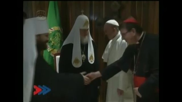 Rencontre historique à Cuba du pape François et du patriarche de l'Eglise orthodoxe russe Kirill