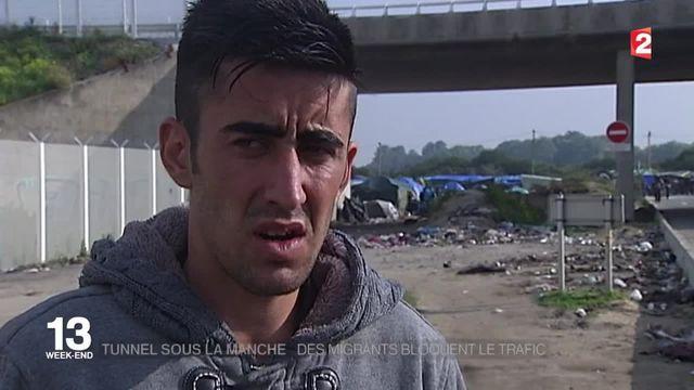 L'Eurotunnel, bloqué par des migrants