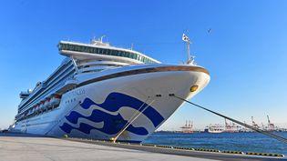 Le bateau de croisière Princess Diamond dans la baie de Yokohama au Japon, le 6 février 2020. (KOTARO NUMATA / YOMIURI / AFP)