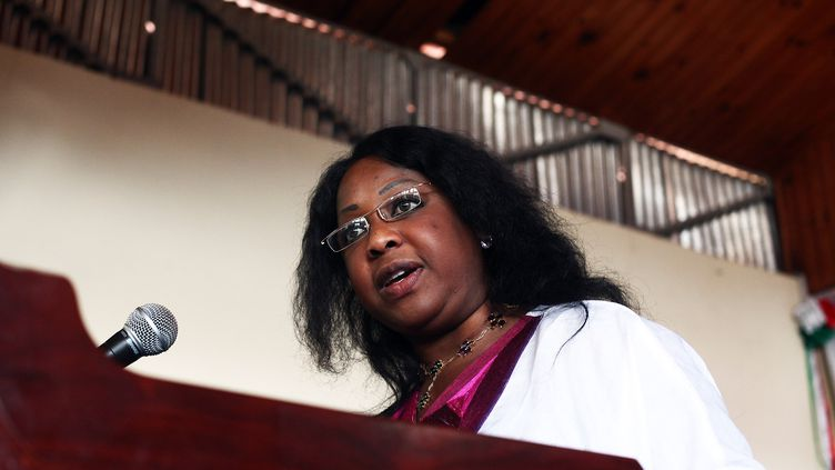 La Sénégalaise Fatma Samoura (ANDREEA CAMPEANU / AFP)