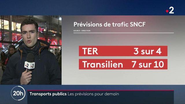 Transports publics : les prévisions de trafic pour mardi 14 janvier