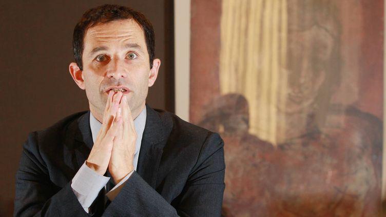 Le ministre chargé de l'Economie sociale, Benoît Hamon, à Nice (Alpes-Maritimes), le 18 octobre 2012. (FRANZ CHAVAROCHE / MAXPPP)