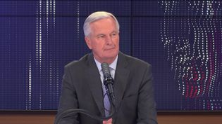 """Michel Barnier,candidat à la primaire de la droite, ex-négociateur en chef du Brexit pour l'Union européenne, était l'invité du """"8h30 franceinfo"""", vendredi 24 septembre 2021. (FRANCEINFO / RADIOFRANCE)"""