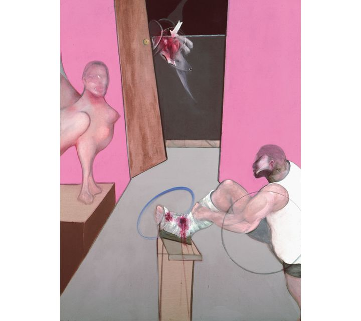 """Francis Bacon, """"Oedipus and the Sphinx after Ingres"""", 1983,Collection Berardo, Lisbonne (© The Estate of Francis Bacon /All rights reserved / Adagp, Paris and DACS , London 2019 © The Estate of Francis Bacon. All rights reserved. DACS / Artimage 2019. Photo: Prudence Cuming Associates Ltd)"""