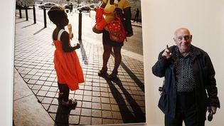 """Raymond Depardon lors de l'inauguration de l'exposition """"un moment si doux"""" au MuCEM de Marseille  (PHOTOPQR/LA PROVENCE)"""