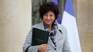 La ministre de l'Enseignement supérieur, de la Recherche et de l'Innovation Frédérique Vidal, à la sortie de l'Elysée, à Paris, le 30 octobre 2019. (LUDOVIC MARIN / AFP)