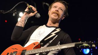 Jesse Hughes des Eagles of Death Metal, en concert à Leeds, le 31 octobre 2015  (Tracey Welch / REX Shutterstock / SIPA)
