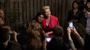 "Emma Thompson et Mindy Kaling dans ""Late Night"", deNisha Ganatra (EMILY ARAGONES)"