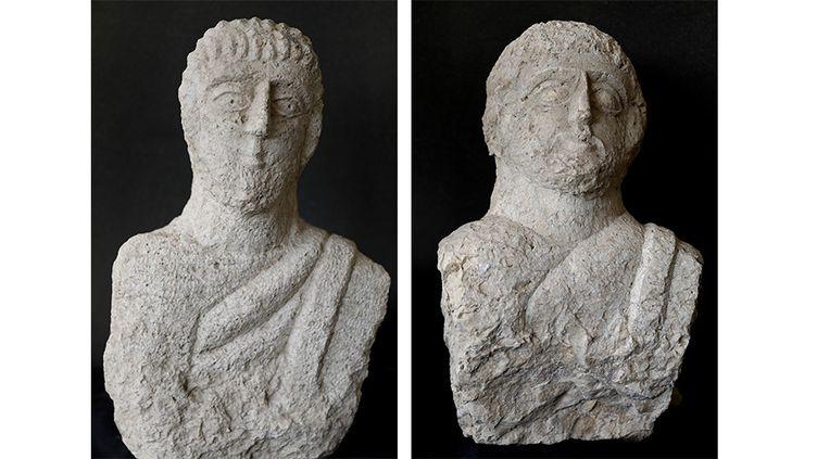Des bustes de l'époque romaine découverts dans la ville de Beit Shean  (GALI TIBBON / AFP)