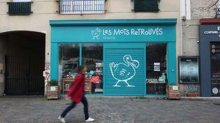 Librairie Les mots retrouvés à Vitry-sur-Seine (Val de Marne) fermée pour cause de confinement due au coronavirus, 18 mars 2020 (Laurence Houot / franceinfo Culture)