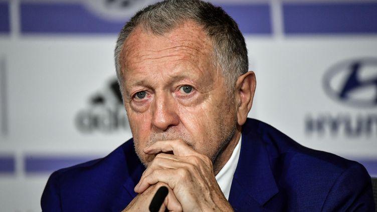 Jean-Michel Aulas (Olympique Lyonnais). (JEFF PACHOUD / AFP)