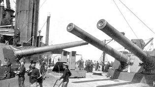 La passerelle du navire anglais HMS Indomitable lors de la bataille du Jutland. (SEM / UNIVERSAL IMAGES GROUP EDITORIAL / GETTY IMAGES)