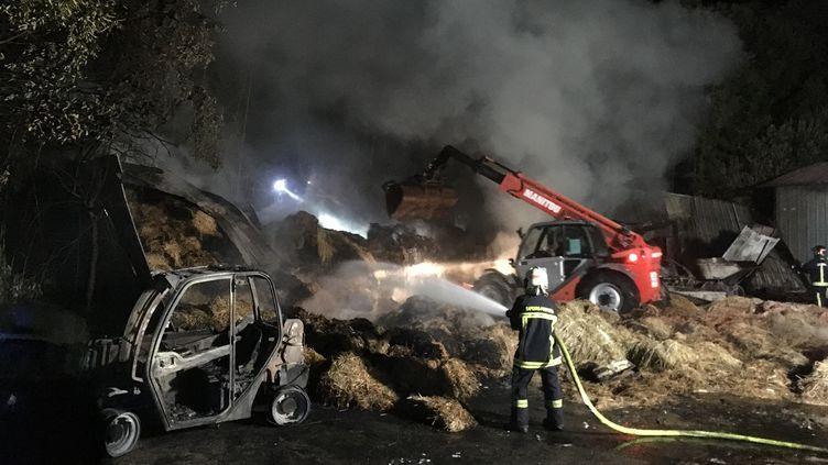 Le feu s'est déclaré dans un entrepôt de paille et de foin. (ZOO DE LA PALMYRE)