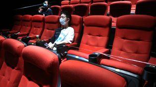 La réouverture d'un cinéma près de la ville de Nanjing en Chine. (YU TIAN)
