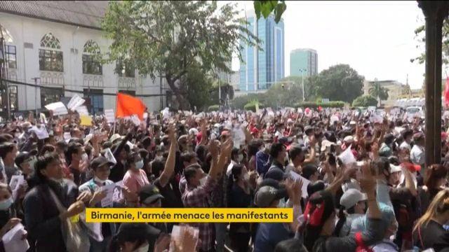 Birmanie : les manifestants menacés par l'armée