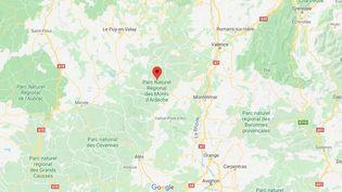 Saint-Pierre-de-Colombier, en Ardèche. (GOOGLE MAPS)
