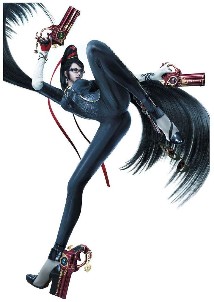 Bayonetta dans le premier opus du jeu sorti en 2008 (WIKIPEDIA)