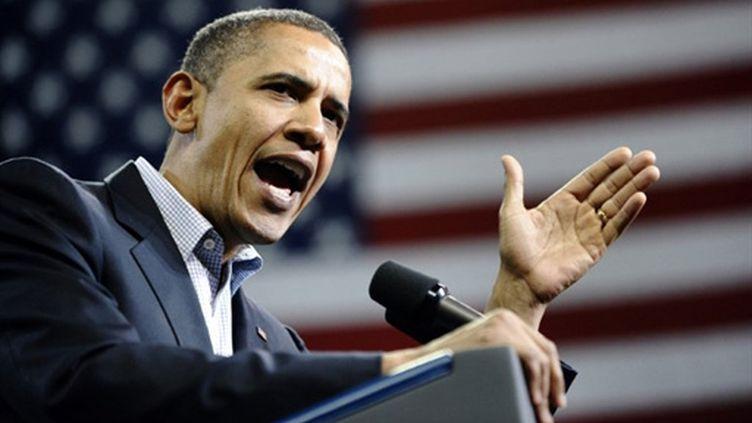 Le président américain Barack Obama à Bridgeport en campagne pour les législatives de mi-mandat le 30 octobre 2010 (AFP/JEWEL SAMAD)
