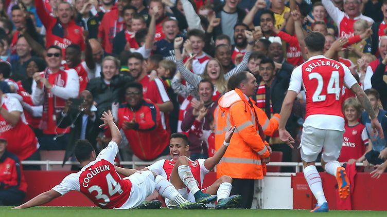 Alexis Sanchez a inscrit un doublé en un quart d'heure contre Manchester United (KIERAN MCMANUS / BACKPAGE IMAGES LTD)