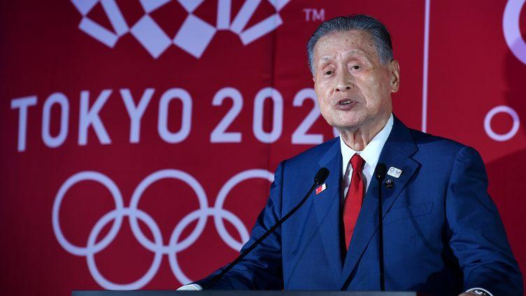Yoshiro Mori le 24 juin 2019. (TOSHIFUMI KITAMURA / AFP)