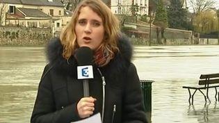 En direct de Montereau-Fault-Yonne (Seine-et-Marne), Caroline Motte revient sur les inondations. (FRANCE 3)