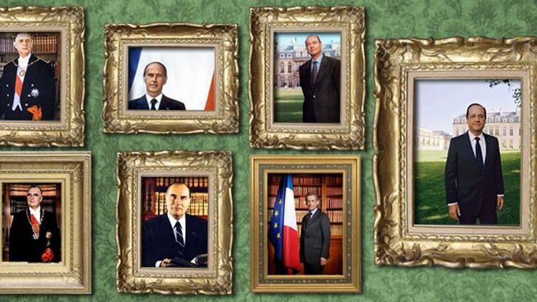 Les portraits officiels des présidents de la Vème République  (Laurence Houot-Remy)
