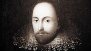 Portrait du poète et dramaturge William Shakespeare trouvé à Mayence, en Allemagne, le 12 février 2014. (DANIEL REINHARDT / AFP)