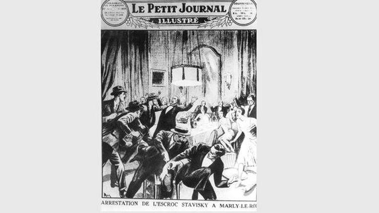 """L'affaire Stavisky - Une du """"Petit Journal Illustre""""  (GOLDNER/SIPA)"""