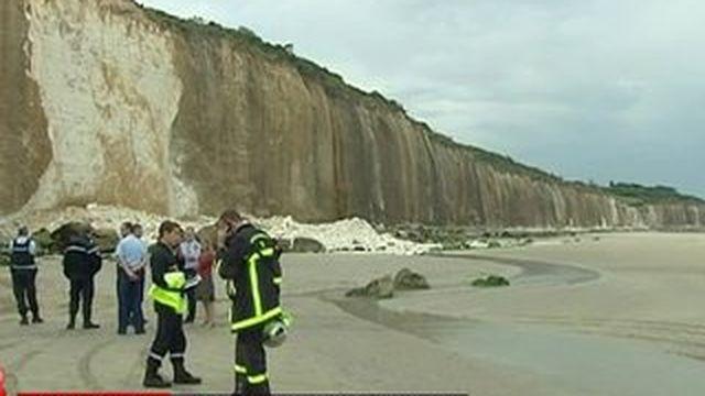 Eboulement d'une falaise en Seine-Maritime : une possible victime recherchée