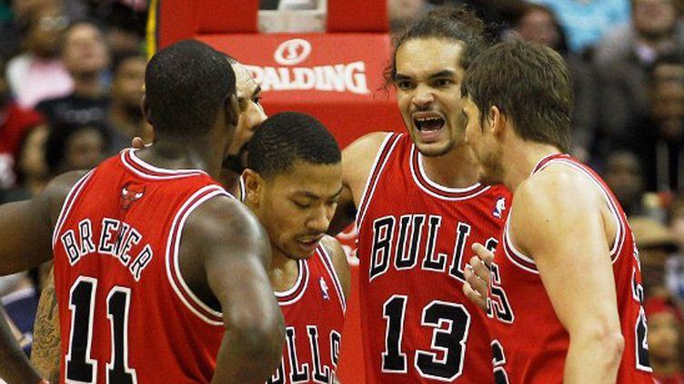 Noah et ses camarades des Bulls (ROB CARR / GETTY IMAGES NORTH AMERICA)