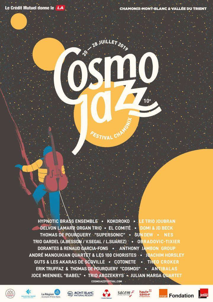 Affiche de l'édition 2019 du festival CosmoJazz (CosmoJazz festival)