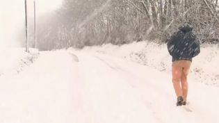 La neige a provoqué des blocage sur plusieurs routes du nord de la France (CAPTURE ECRAN FRANCE 2)
