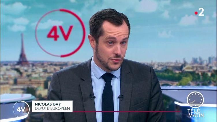 Le député européen RNNicolas Bayexige mercredi 11 décembre l'abandon pur et simple de la réforme et la consultation des Français par référendum. (FRANCE 2)